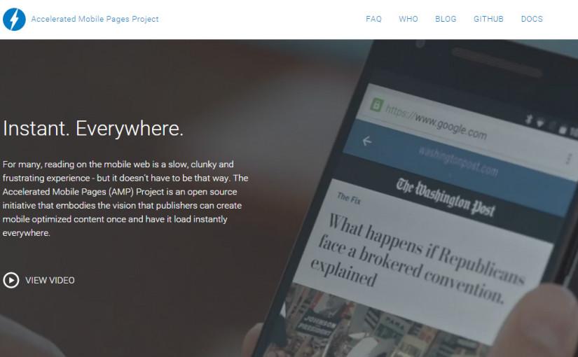 וורדפרס תומכת כעת בטכנולוגיית AMP של גוגל לטעינה מהירה של עמודים בנייד