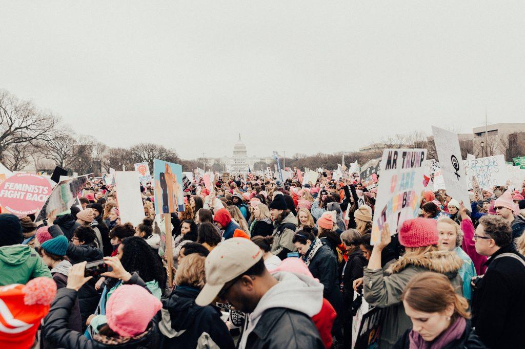 """הפגנה בארה""""ב"""